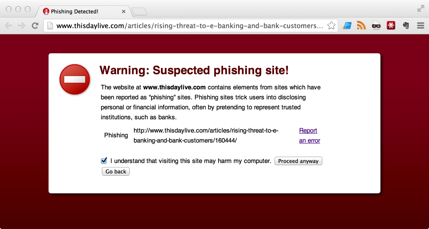 Another phishing warning that wasn't correct | Andreas Baumhof